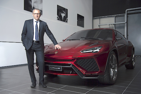 Lamborghini Urus and Stefano Domenicali