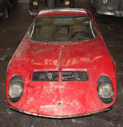 Lamborghini Miura P400 3285 barn find at Interencheres Auction January 2019