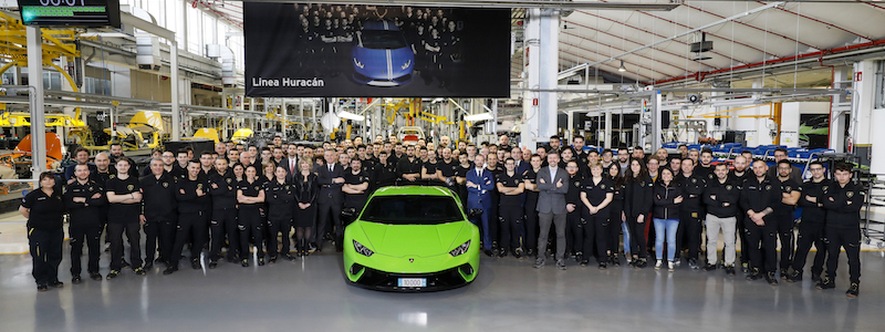 10,000 Huracán produced in four years